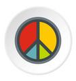 peace symbol icon circle vector image