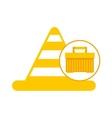 plastic tool box cone icon vector image vector image
