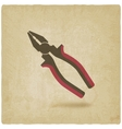 pliers repair symbol old background vector image vector image