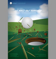 poster golf championship vector image vector image