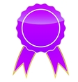 Purple medal vector image