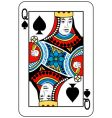 queen of spades vector image vector image