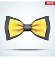 Realistic black and gold bow tie vector image vector image