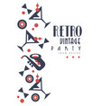 retro vintage party logo design element for vector image vector image