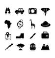 Safari Icons Black vector image vector image