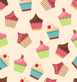 Seamless Pattern with Different Muffins vector image