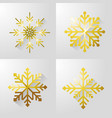 set merry christamas snow design vector image