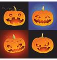 Set of pumpkin for Halloween vector image