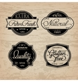 set of universal bottle labels vector image