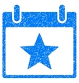 Star Calendar Day Grainy Texture Icon vector image vector image