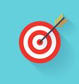 Target bullseye or arrow on target flat icon Flat vector image