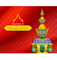 thai temple guardian giant vector image vector image