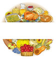 thanksgiving autumn background with traditional vector image