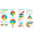 three things infographic elements vector image vector image