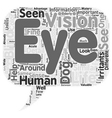 Through the Eyes of Your Dog text background vector image vector image