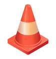 traffic cone icon isometric style vector image vector image
