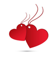 Two red hearts for valentines day vector image vector image