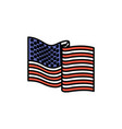 united states flag waving in color sections vector image vector image
