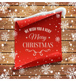 We wish you a very Merry Christmas background vector image vector image