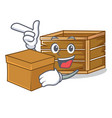 with box crate character cartoon style vector image