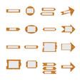 wooden signboards wood arrow sign vector image vector image