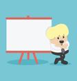 businessman indicates presentation vector image