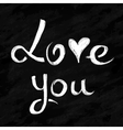 love lettering in chalkboard style vector image