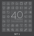 40 Trendy Thin Line Icons for Web and Mobile Set 1