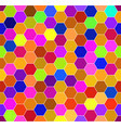 abstract colorful honeycomb pattern vector image vector image