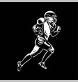 american football player running with ball vector image
