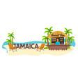 beach bar jamaica travel palm drink summer vector image vector image