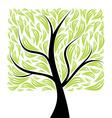 beautiful art tree vector image vector image