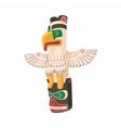 Bird totem icon cartoon style vector image vector image