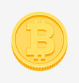 bitcoin symbol on gold coin vector image vector image