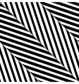 Black White Diagonal Stripe Seamless Pattern vector image vector image