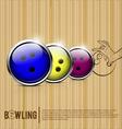 bowling balls alley vector image