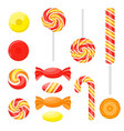 cartoon color sweetmeats set different types set vector image vector image