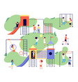children playground group happy kids vector image