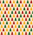 Christmass Pattern with Pines Seamless Background
