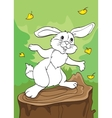 Coloring Book Of Tale of Brave Bunny vector image vector image