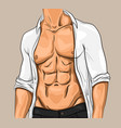 comic attractive young man vector image vector image