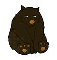 comic cartoon unhappy black bear vector image vector image