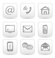 contact buttons set email icons vector image vector image
