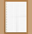 crumpled standart three lined column blank series vector image vector image