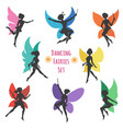 dancing fairies set vector image vector image