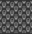 decorative mexican skulls seamless pattern vector image vector image
