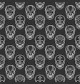 Decorative mexican skulls seamless pattern