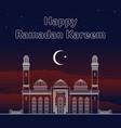 eid mubarak ramadan greeting card vector image