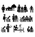 elderly care nursing old folks home retirement vector image