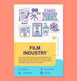 film industry poster template layout vector image